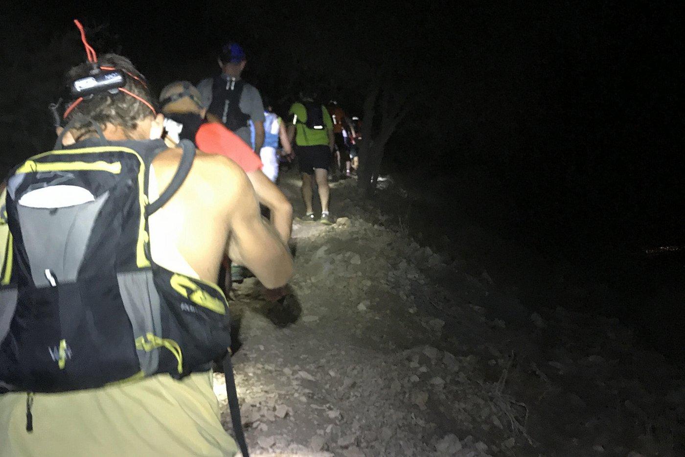 ריצת טרייל לילית - night trail run