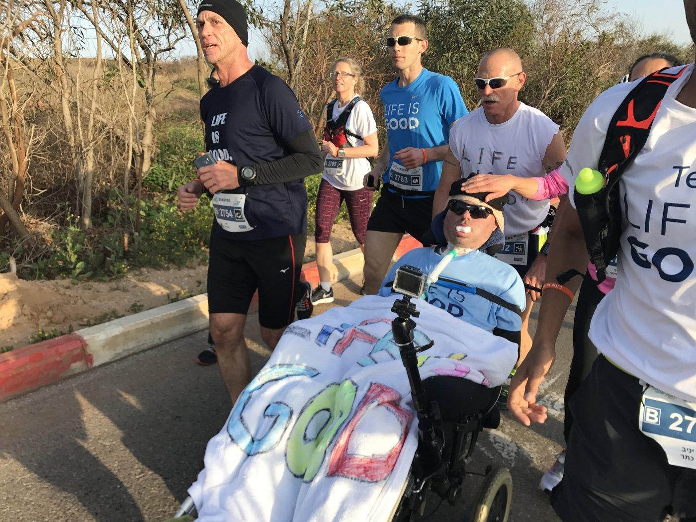 Tel Aviv Marathon on wheelchair
